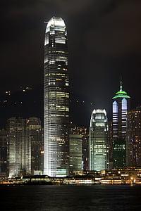 internationella finansiella center, byggnad, arkitektur, natt, skyskrapa, Urban, Downtown