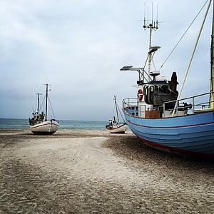 natural, both, the north sea, horizon, the sea, danish beach, sand