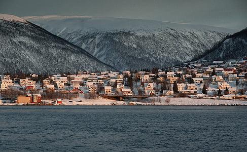 Norge, Lappland, Tromsö, fjorden, havet