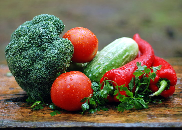 verdures, alimentació sana, cuina, cuina, aliments, menjar, ferro colat