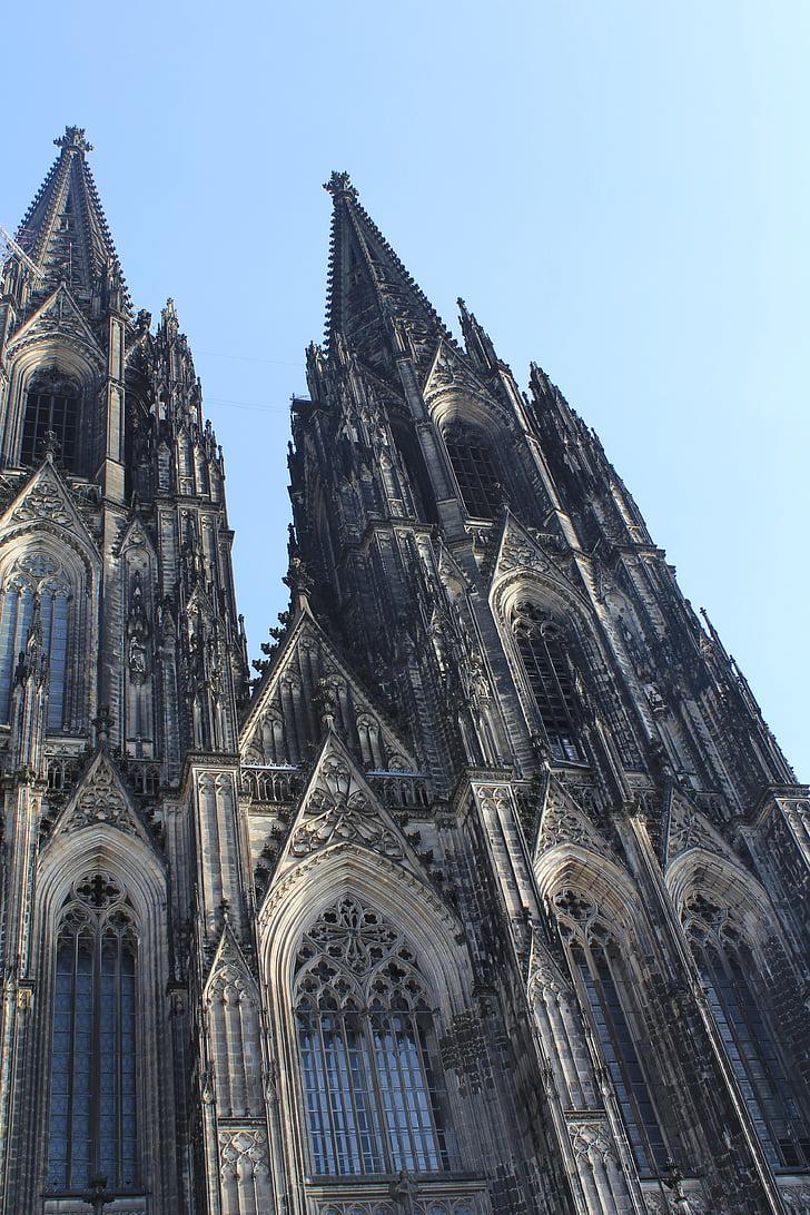 Dom, Cologne, Gereja, arsitektur, Landmark, Katedral, Steeple