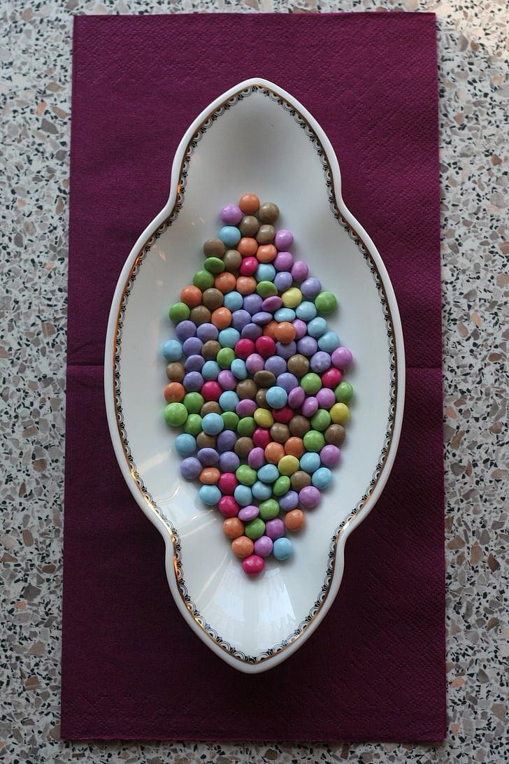 шоколад леща, марка, Сладко, цветни, Smarties, декорация, много цветни