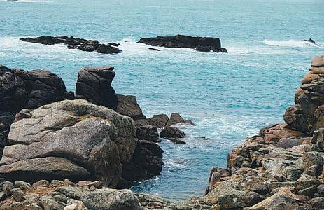 Costa, illa, oceà, a l'exterior, roques, rocoses, escèniques
