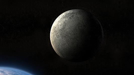 Moon, maa, planeedi, universumi, atmosfäär, DarkSide, taust