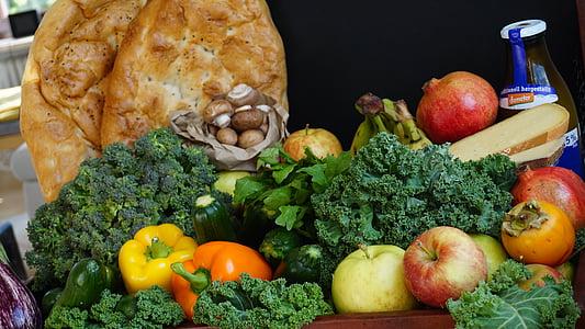 voće, povrće, tržište, prehrana, voće, jabuka, mrtva priroda