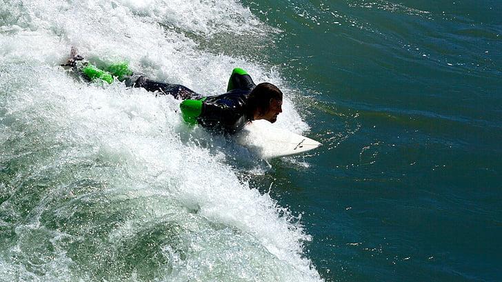 esports aquàtics, onades de surf, surf, navegar per, riu surf, llisquen, esport