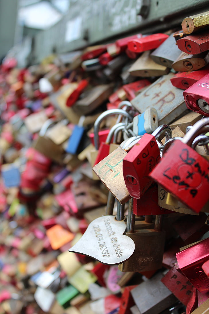 cinta kunci, Gembok, Cologne