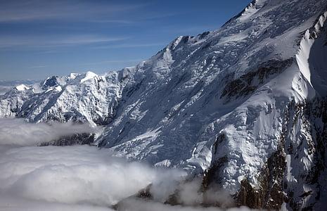 Denali, muntanyes, Mont mckinley, glacera, paisatge, escèniques, l'aire lliure