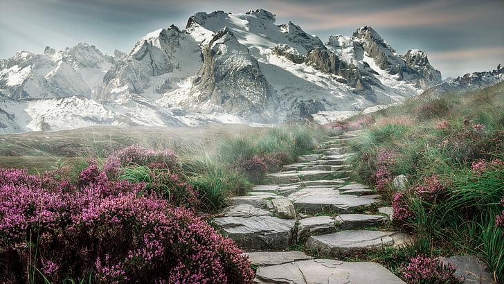 berglandschap, Bergen, landschap, Steinweg, natuur, bergwandelen, wandelen