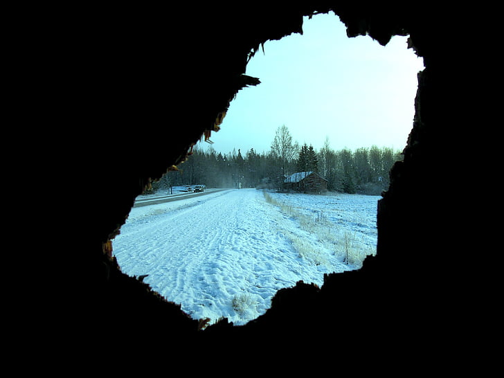 car, snow, finnish, winter, landscape, frost, cold