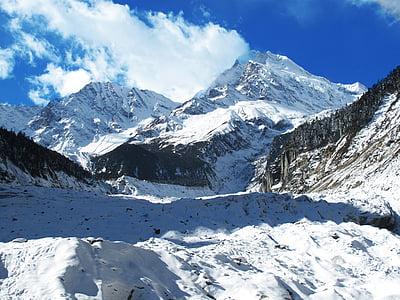 Sichuan, Luding, hailuogou, Konka mountain, Lodowiec, Snow góry, śnieg