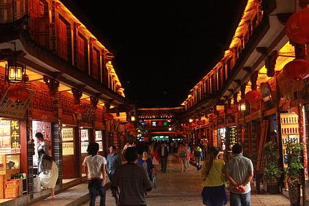 lijiang, night view, street view