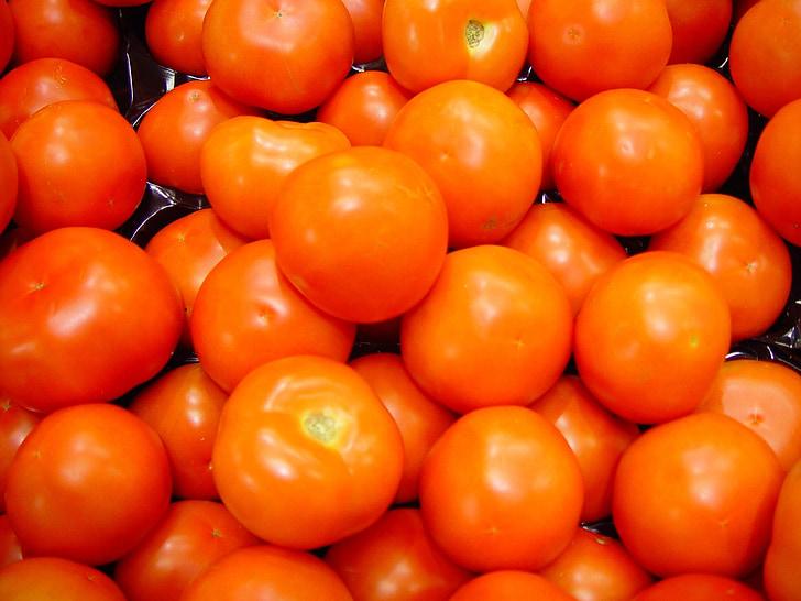 tomatid, puu, toidu, värske, punane, põllumajandustootjate, turu