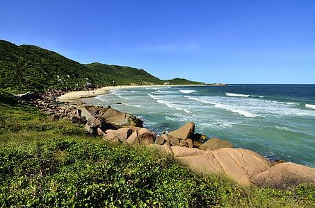 platja, illa, paisatge, oceà, a l'exterior, roques, Mar