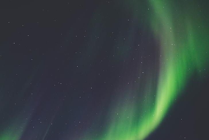 aurora borealis, nat, nordlys, Sky, stjerner