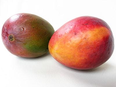 芒果, 水果, 异国情调, 热带, 新鲜, 食品, 多汁