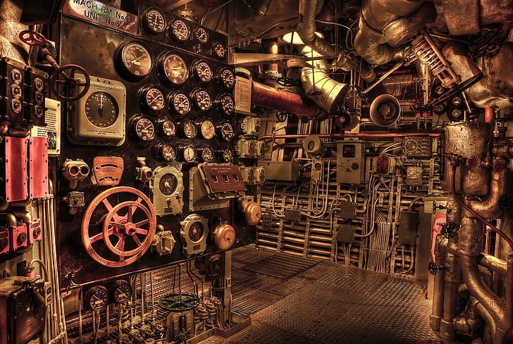 cuirassé, salle des machines, historique, guerre, Marine, histoire, point de repère