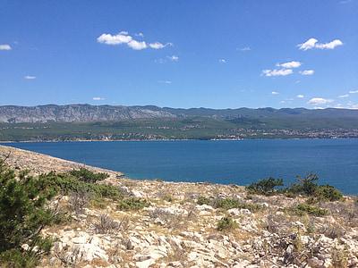 クルク島, クロアチア, クルク島の島, 水, 石, 海, 島
