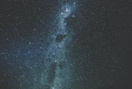 naktī, debesis, zvaigznes, galaktikas, daba, Astronomija, telpa