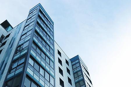 Apartement, Korterelamu, arhitektuur, hoone, äri, City, selge taevas