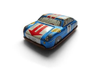 Samochodzik, Zabawka, miniaturowe, Vintage, Cyna, Tin toy, samochód wyścigowy