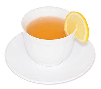 çay, limon, içki, çay fincanı, gevşeme, içki, Kupası