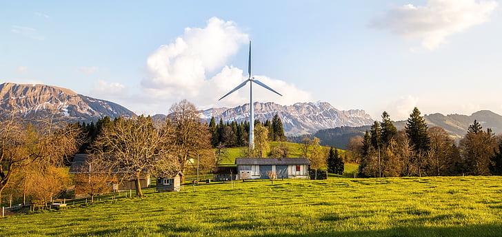 Veterná energia, veterník, Veterná energia, windräder, energie, Sky, životné prostredie