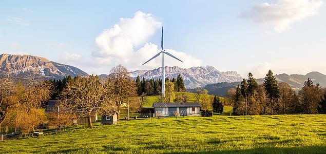 Rüzgar enerjisi, Fırıldak, Rüzgar enerjisi, windräder, enerji, gökyüzü, çevre