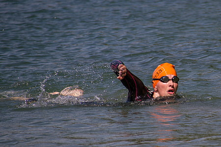 swim, swimmer, gigathlon, competition