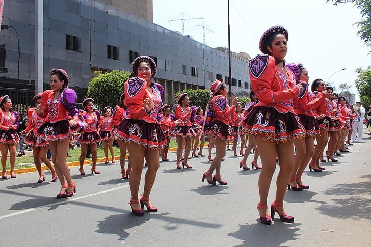 tánc, Latin, Peru, Andok, kultúra, Lima, Fesztivál