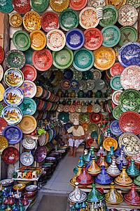 มาร์ราเกช, โมร็อคโค, ตลาด, ท่องเที่ยว, มีสีสัน, ทำด้วยมือ, วัฒนธรรม