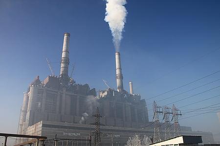 вугілля, Електроенергія, енергія, завод, потужність, дим, вивергає