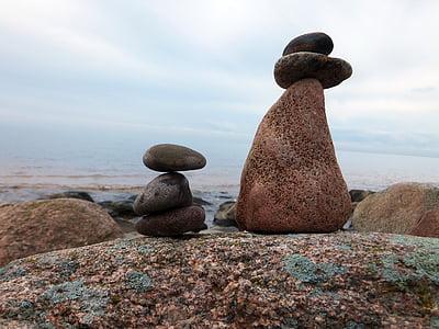 havet, sten, vatten, Rock - objekt, Pebble, sten - objekt, naturen