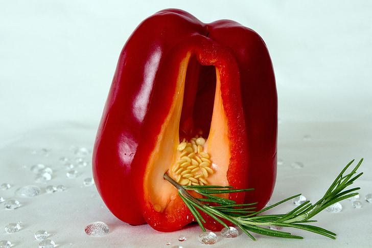 paprika, rozmaring, zár