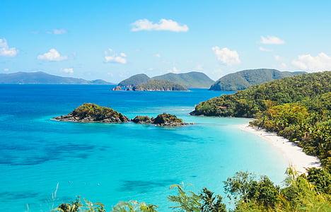 Bay, plaj, deniz manzarası, cennet, doğa, ada, su