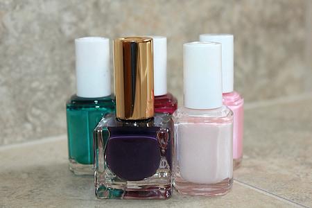 esmalt d'ungles, esmalt, polonès, manicura, les ungles, brillant, brillant
