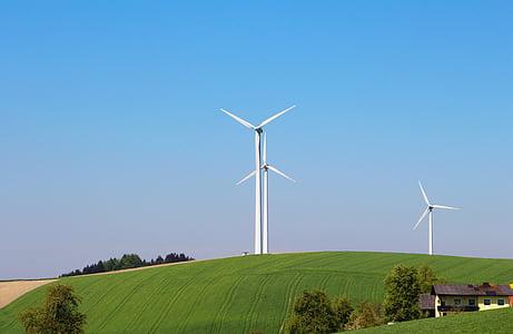 energia eòlica, molinet de vent, windräder, energia, vent, medi ambient, winkraft