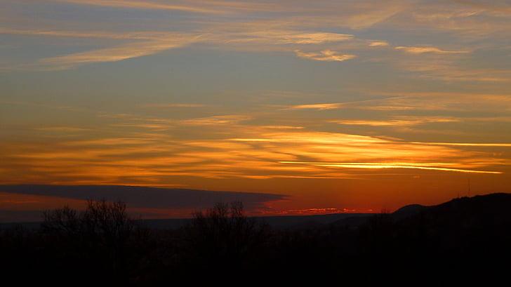 solnedgång, molnet, ljus, színesfelhő, Panorama, landskap, Sky