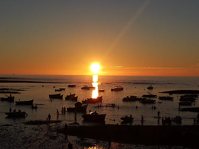 západ slnka, Casablanca, Beach, Maroko beach