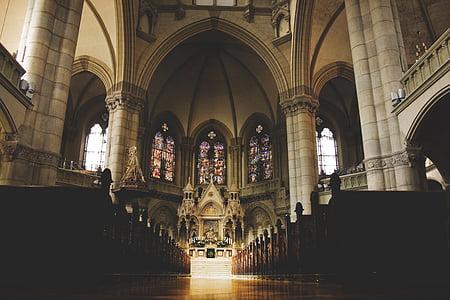 l'església, interior, interior, cristiana, Catòlica, casa de culte, barroc