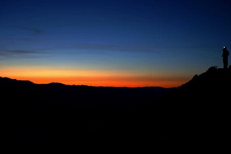 temno, zarja, Mrak, narave, obris, nebo, sončni vzhod