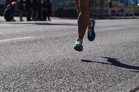 maratons, ekiden, darbojas, palaist, Sports, pilda, skriešanas