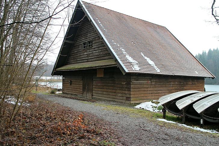 Boat house, Fisherman's house, Domov, jazero, vôd, vody