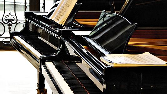 piano, wing, music, instrument, keyboard instrument, piano keys, keys