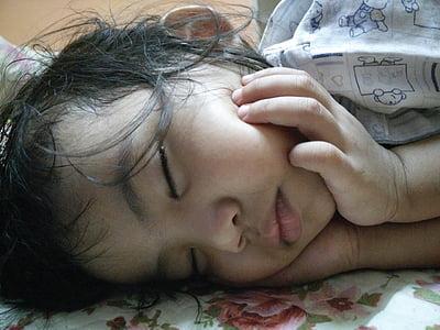 kids, little girl, sleeping
