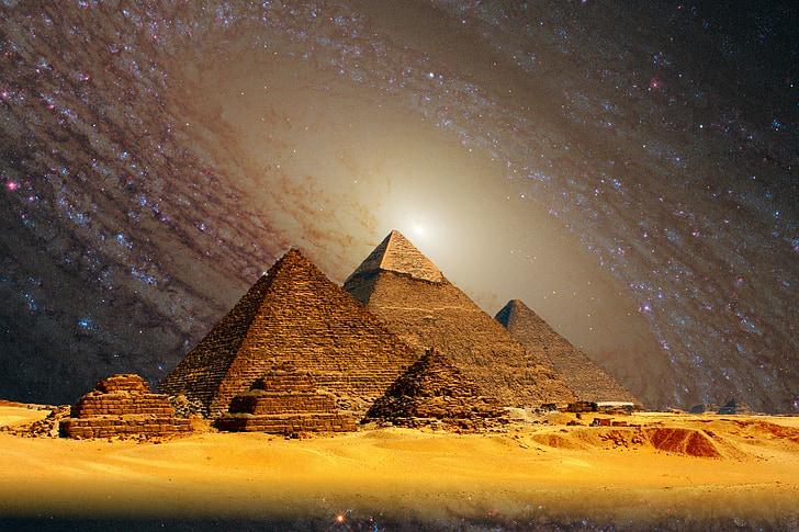 Gizeh, piràmides, Kheops, Egipte, weltwunder, Esfinx, voltants