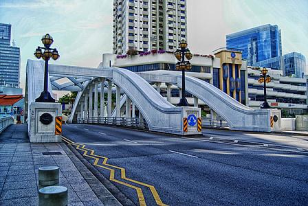 singapore, city, cities, urban, buildings, bridge, road