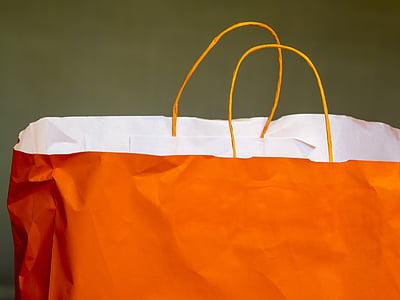 bossa, compra, cistella, venda, bossa de paper, mercat, compres
