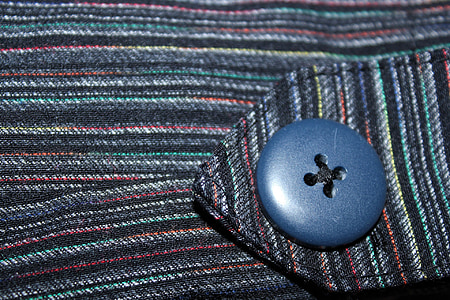 button, stripe, cloth, textile, object, blue button, jeans