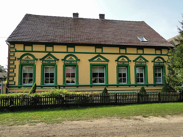 rekowo, poland, house, home, colorful, beautiful, outside